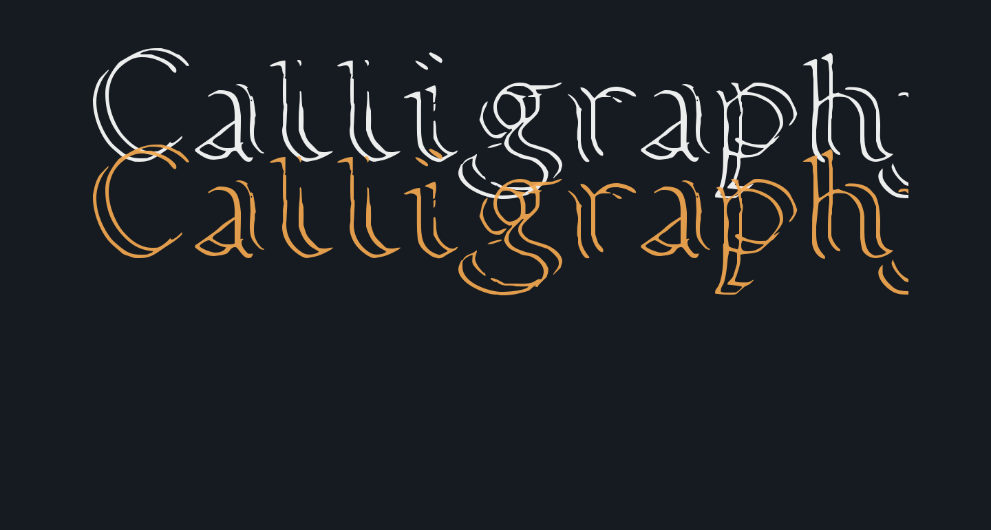 Calligraphy Double Pencil