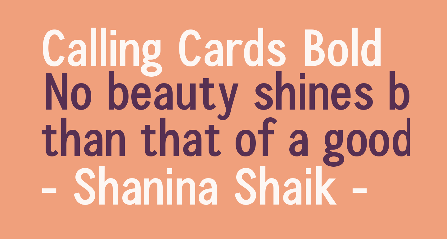 Calling Cards Bold
