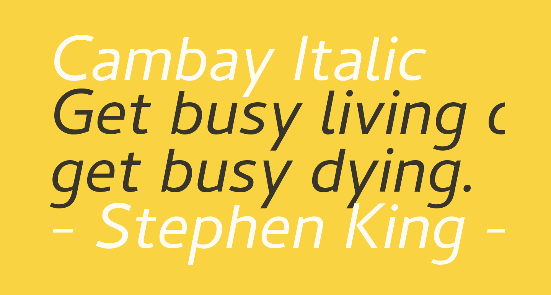 Cambay Italic