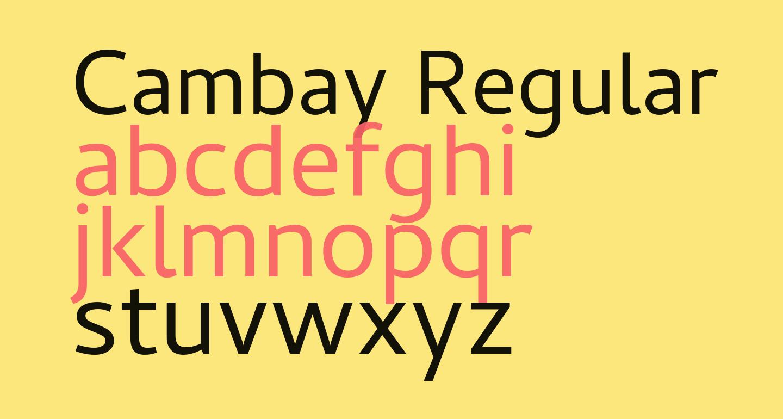 Cambay Regular