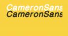 CameronSansExtraBoldOblique