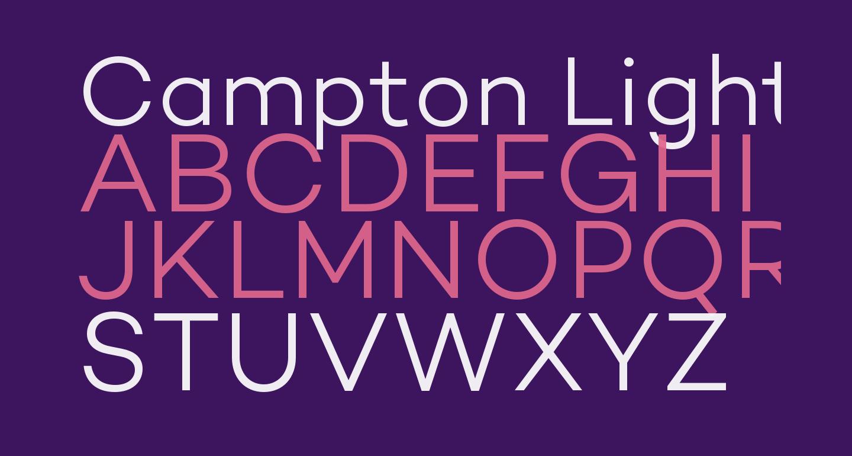 Campton Light DEMO