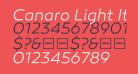 Canaro Light Italic DEMO
