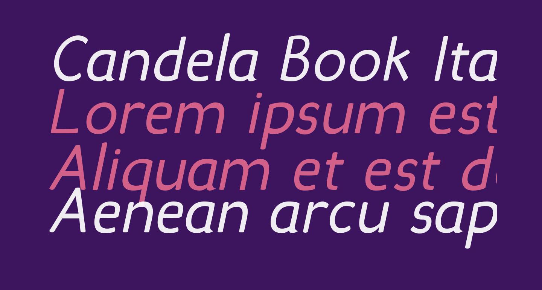 Candela Book Italic