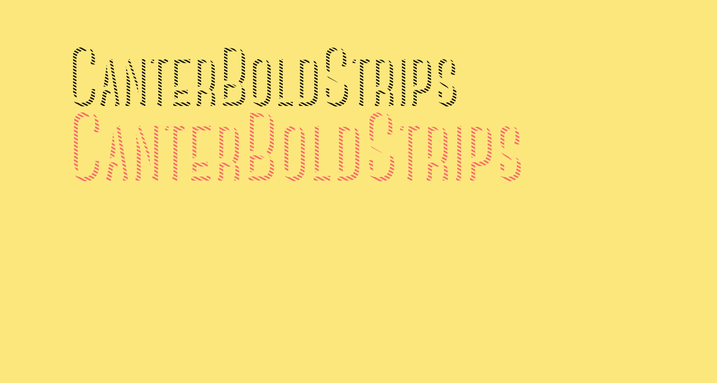 CanterBoldStrips