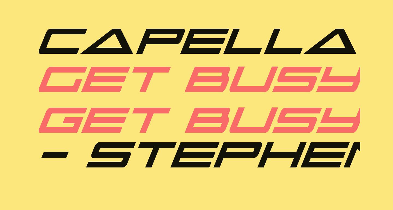 Capella Condensed Italic