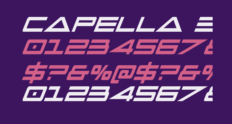 Capella Extra-condensed Italic