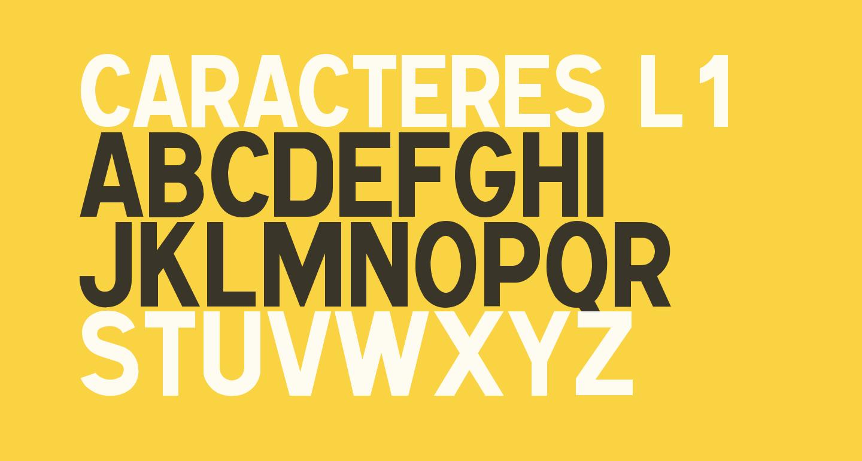 Caracteres L1