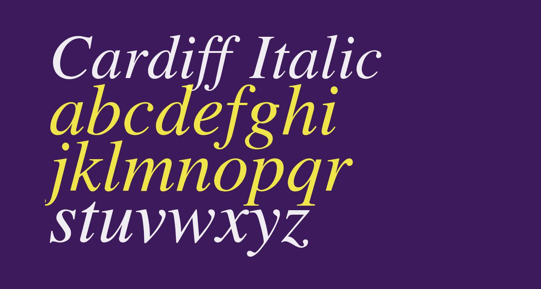 Cardiff Italic