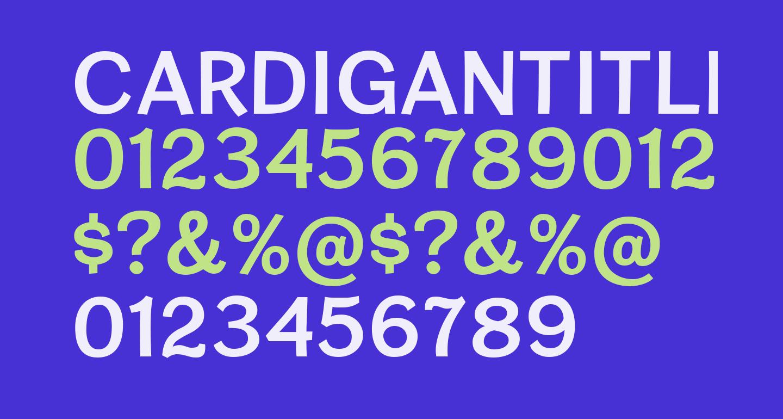 CardiganTitlingSb-Regular