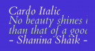 Cardo Italic