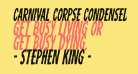 Carnival Corpse Condensed Italic