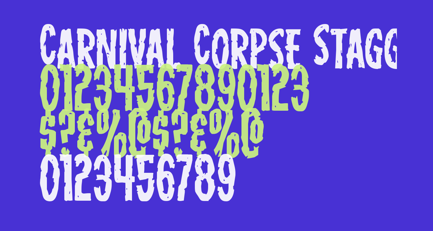 Carnival Corpse Staggered