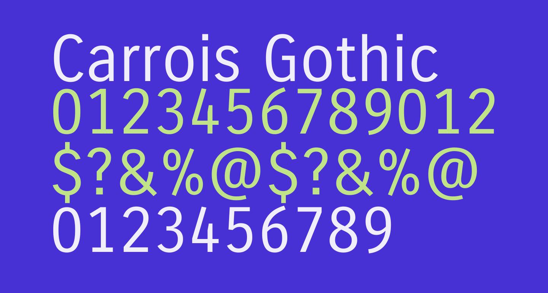 Carrois Gothic