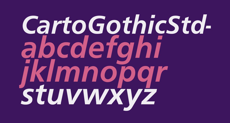 CartoGothicStd-BoldItalic