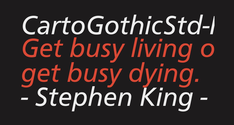 CartoGothicStd-Italic