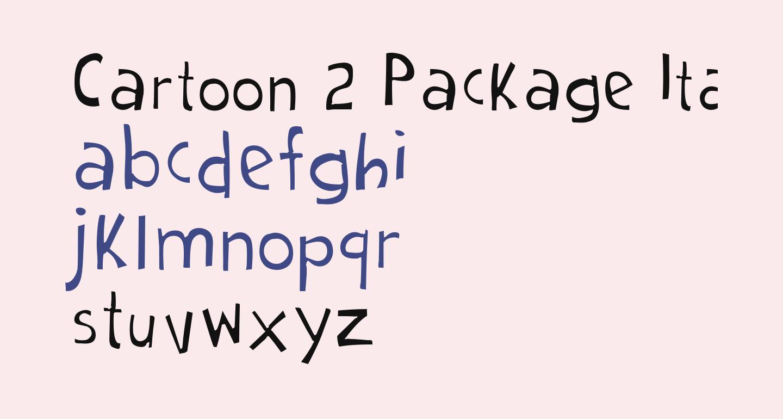 Cartoon 2 Package Italic