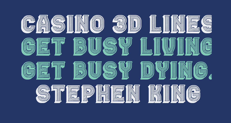 Casino 3D Lines Regular