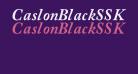 CaslonBlackSSK Italic