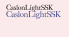 CaslonLightSSK