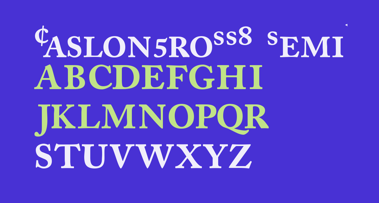 CaslonProSSK SemiBold