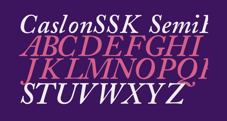 CaslonSSK SemiBoldItalic