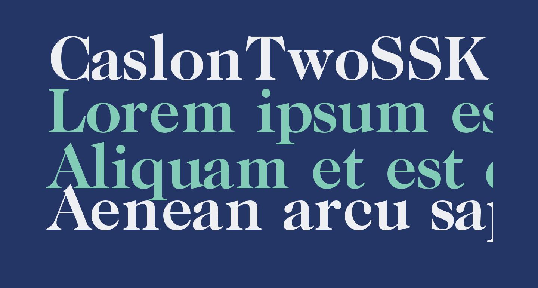 CaslonTwoSSK Bold