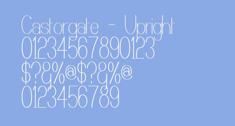 Castorgate - Upright