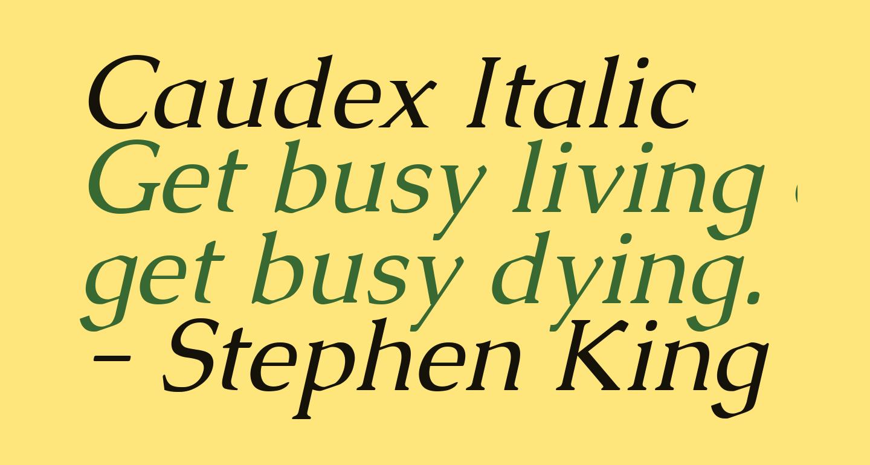 Caudex Italic