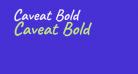 Caveat Bold