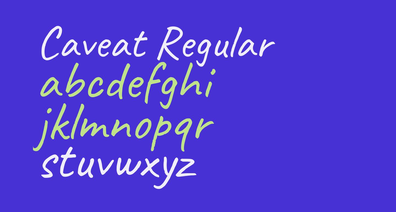 Caveat Regular