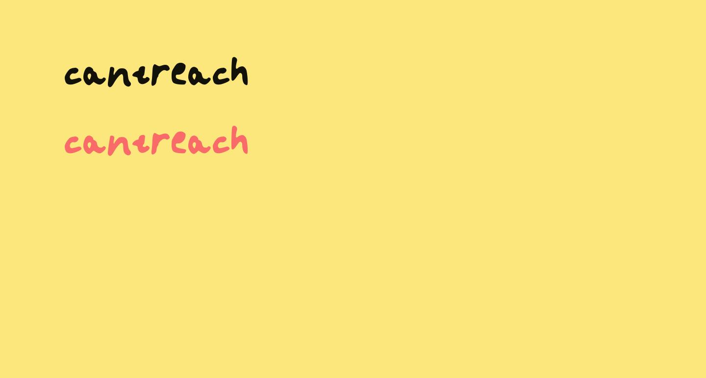 cantreach