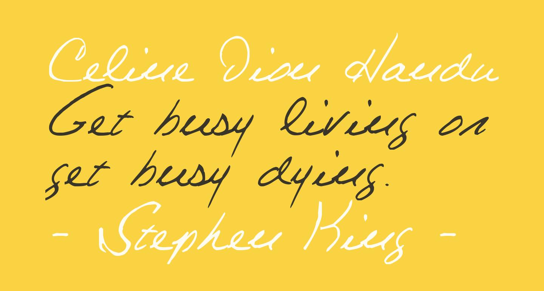 Celine Dion Handwriting