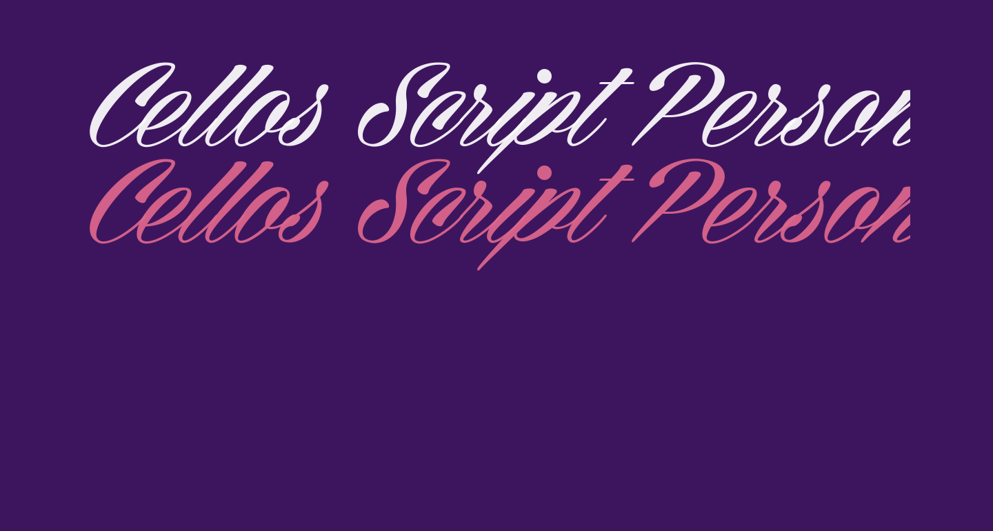 Cellos Script Personal Use Only