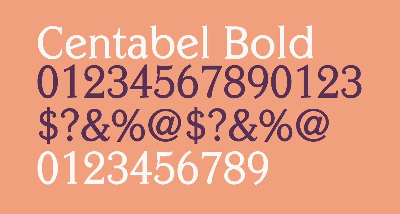 Centabel Bold