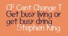 CF Cant Change The World Regular