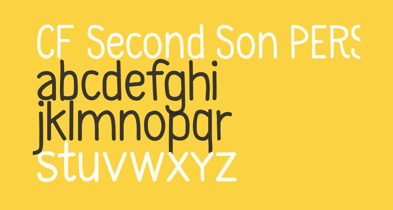 CF Second Son PERSONAL Regular