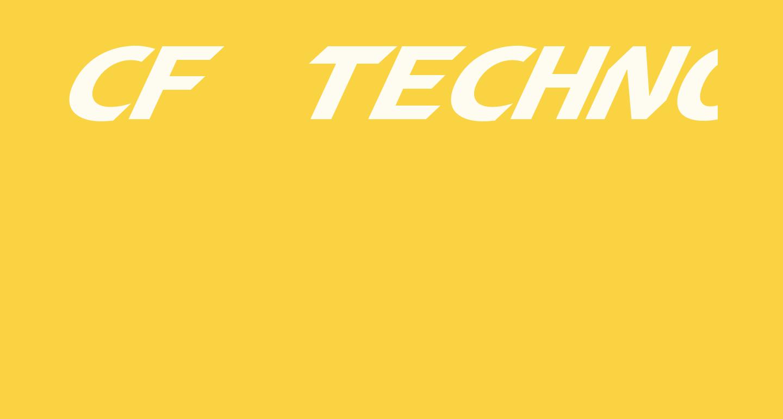 CF TechnoMania Slanted