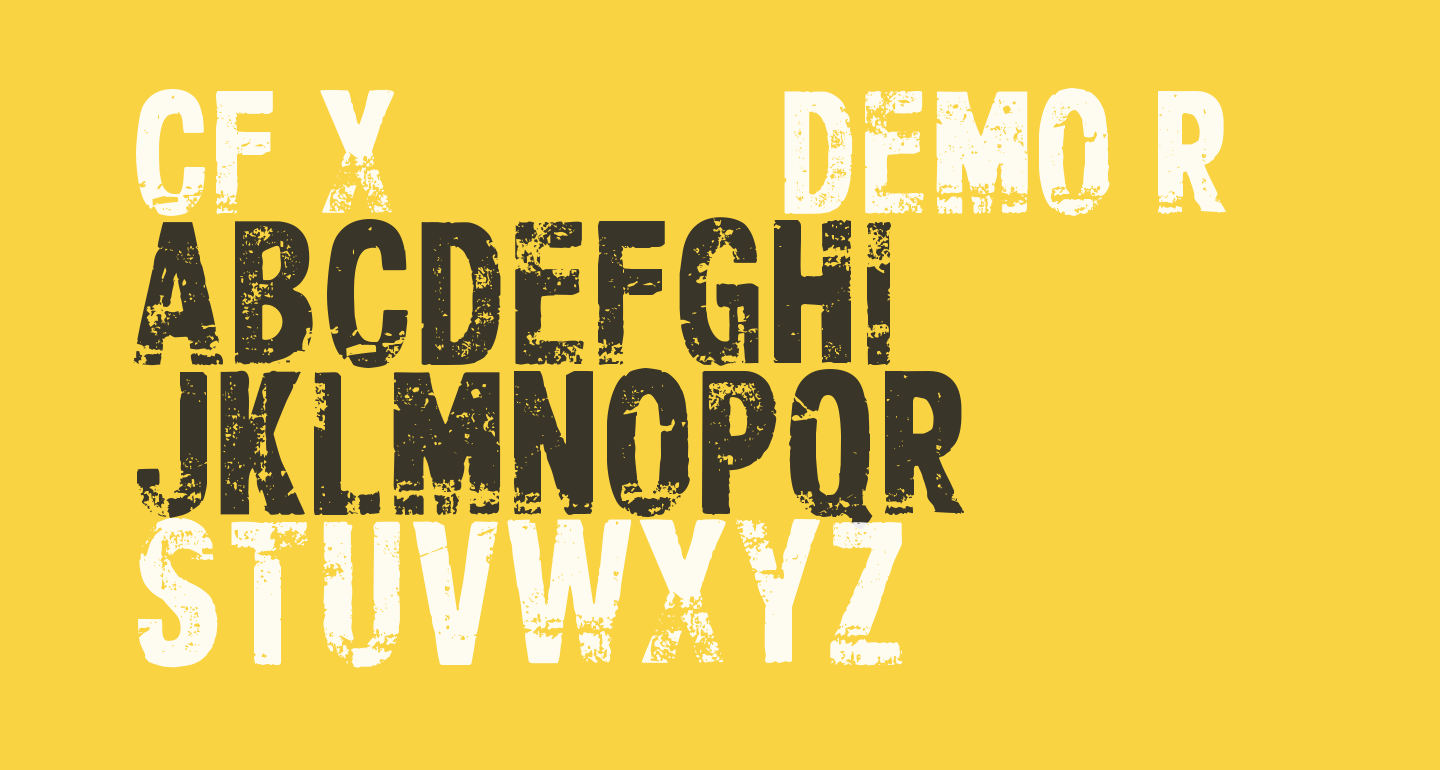 CF Xerography DEMO Regular
