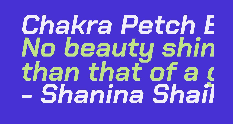 Chakra Petch Bold Italic