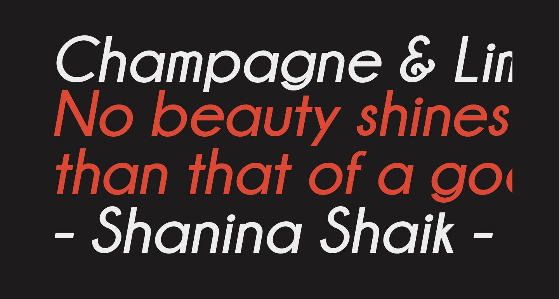 Champagne & Limousines Bold Italic