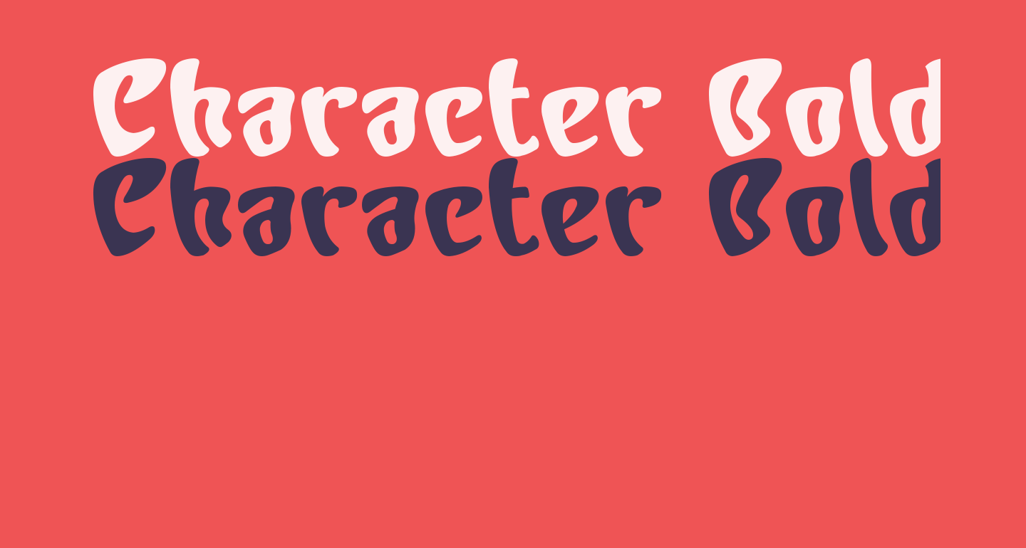 Character Bold