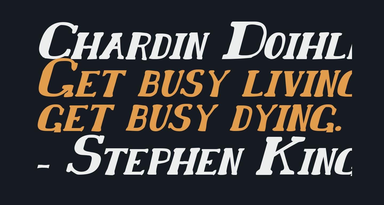 Chardin Doihle Bold Italic