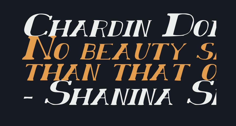 Chardin Doihle Expanded Italic