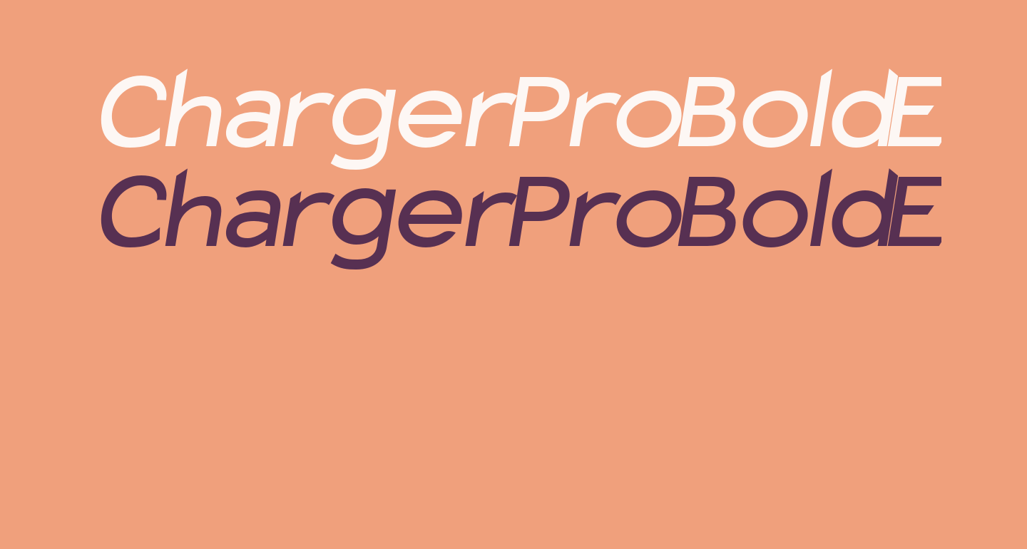 Charger Pro Bold Extended Oblique