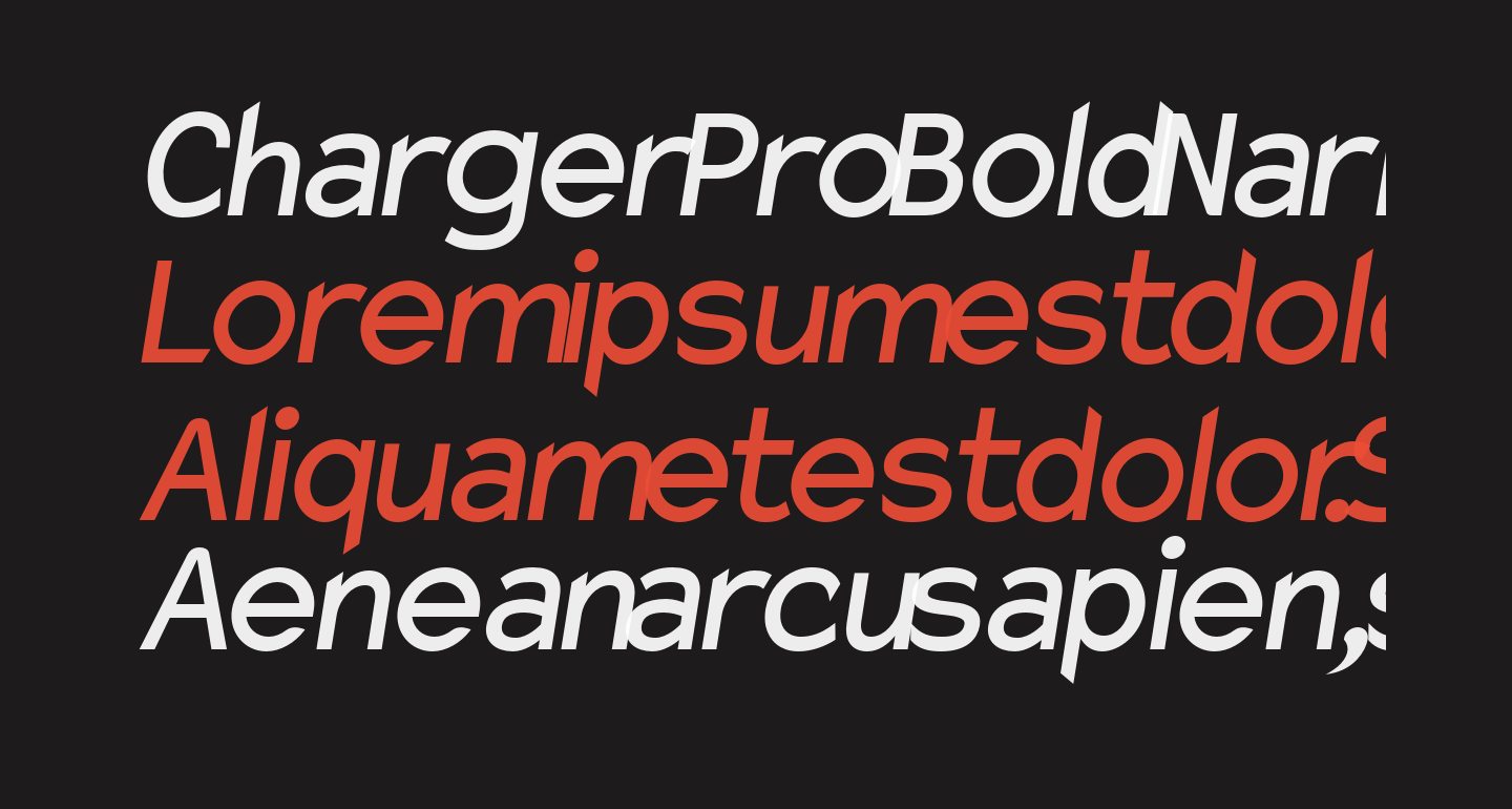 Charger Pro Bold Narrow Oblique