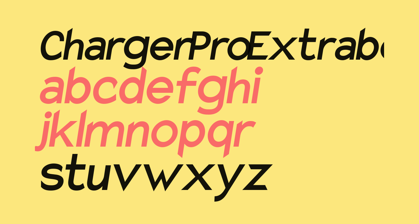 Charger Pro Extrabold Narrow Oblique