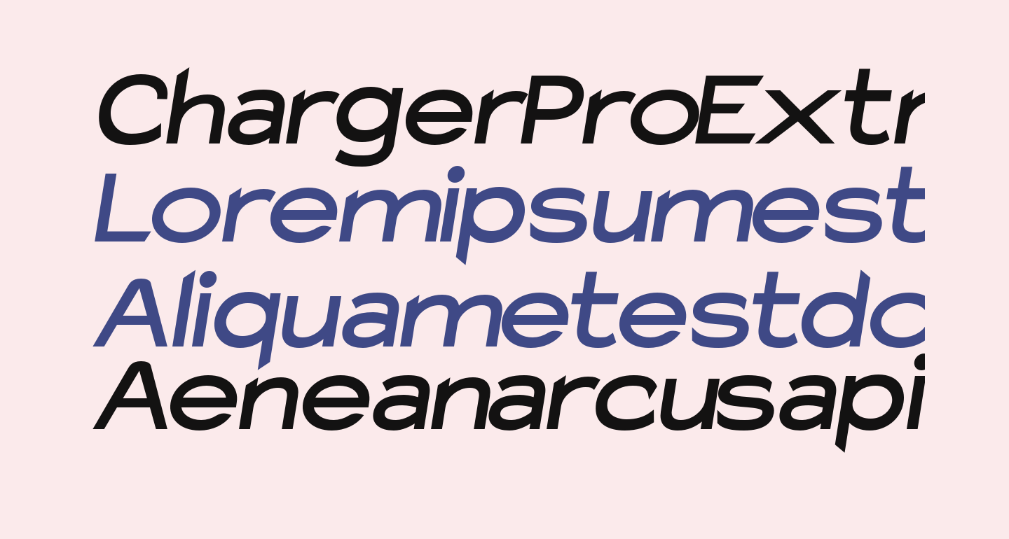 Charger Pro Extrabold SuperExtended Oblique