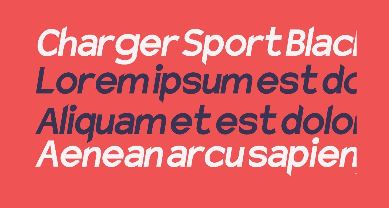 Charger Sport Black Narrow Oblique