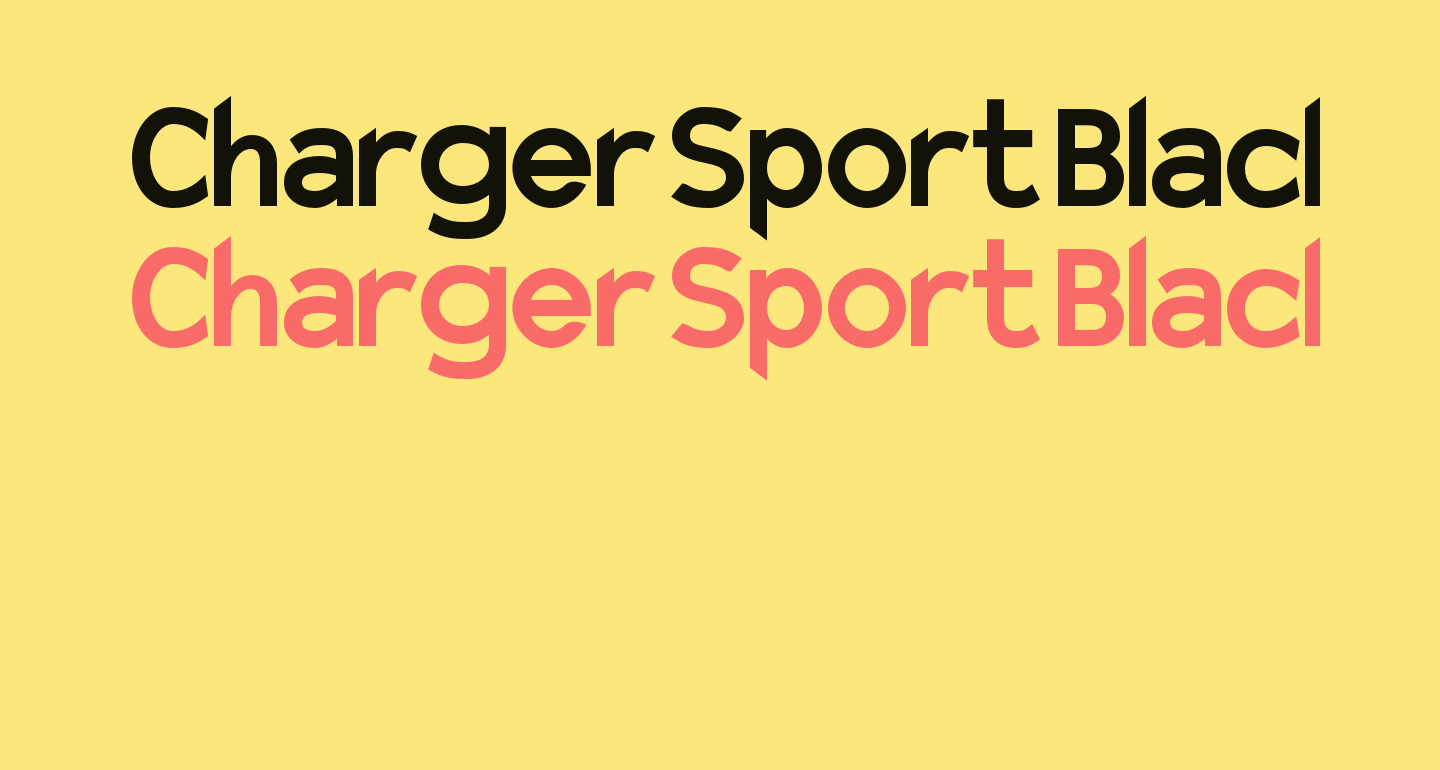 Charger Sport Black Narrow